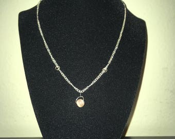 Pink Orb Necklace