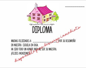 Stationery for Homeschool - DIPLOMA