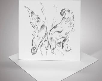 Abstract Butterfly- Blank Greeting Card