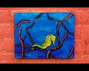 UNDERTOW \\\ 9x12 original resin painting