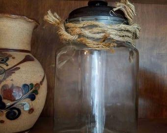 Beach Style Frayed Rope Decorative Storage Jar
