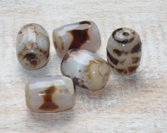 Rootbeer Faceted Agate Barrel Gemstone Beads, Agate Barrel Beads, Agate Beads