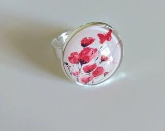 """round ring """"poppy"""