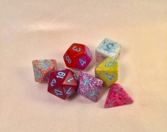 One-of-a-Kind Dice Set: Gumballs