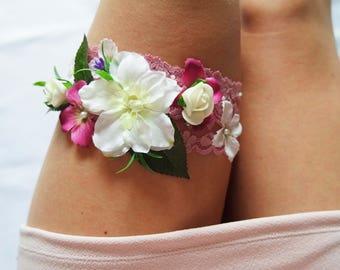 Wedding garter, Handmade garter,