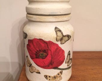 Upcycled coffee jars