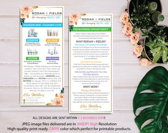 Rodan and Fields Business Opportunity, Why Rodan + Fields Card, RF Product Cards, Business Opportunity Flyer, Digital files RF11