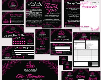 Paparazzi Marketing Kit, Paparazzi Bundle, Paparazzi Business Cards, Paparazzi Marketing, Free Personalization, Printable file PP21