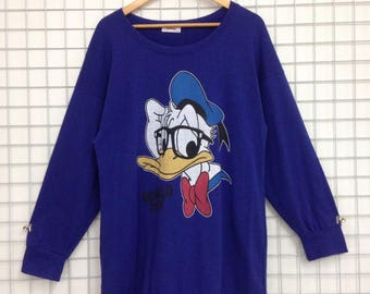 Vintage Donald Duck Sweatshirts Big Logo Nice Design