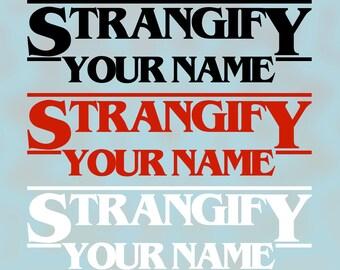 Custom Stranger Things Vinyl Decal
