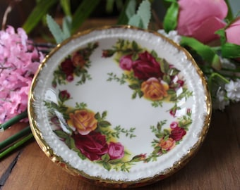 Royal Albert Old Country Roses Butter Dishes/Small Sweet Dish/Coaster