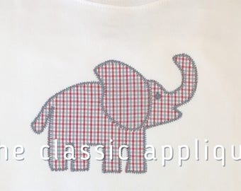zigzag elephant applique design file for embroidery