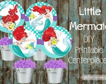 Little Mermaid Centerpieces, Little Mermaid Decorations, Little Mermaid Birthday Party, Little Mermaid Party Supplies, Ariel Centerpieces