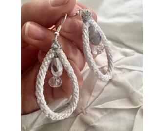 Cord Droplet Earrings