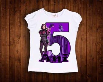 inspired by descendants mal shirt birthday shirt