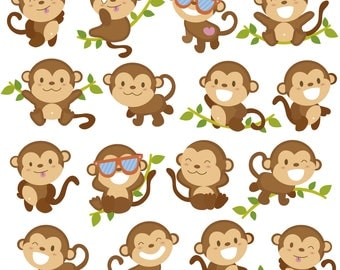 Monkey Svg/Eps/Png/Jpg/Cliparts,Printable, Silhouette and Cricut File !!!