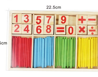 Education Wooden Toys Building Intelligence Blocks Montessori Mathematical Wooden Box Child Gift