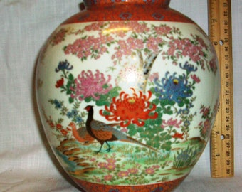 Listing 079 is a hand painted japanese vase