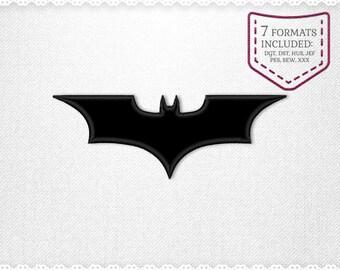 Batman Applique Machine Design - INSTANT DOWNLOAD - Applique, Embroidery, Designs