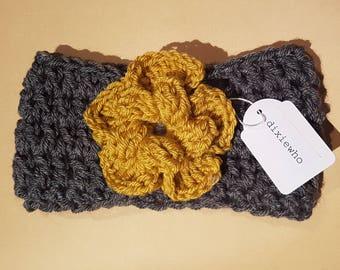 Mustard Rose Ladies Headband
