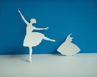 Cut paper white coloring design opera dancer you even for creation