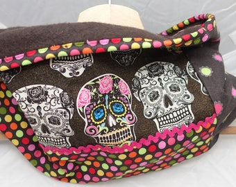 fleece snood and skulls cotton