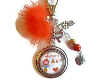 "Bag charm, door keys/AVS / ""AVS thank you"" / Wonderland faby/year end gift / birthday/Christmas/thanks"