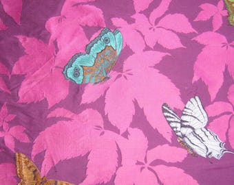 Embroidered fabric €78 150 butterflies cm /m