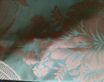 style louis XV, green, satin effect fabric