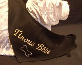 Scarf to be personalized for your dog size - XXS - XS S M