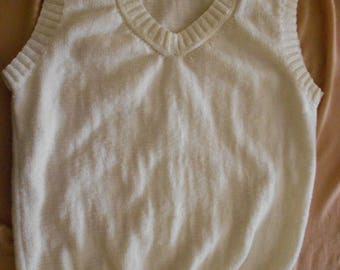Tank top sleeveless white size XL