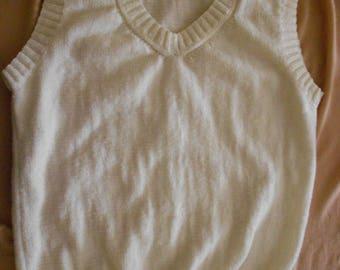 Tank top sleeveless white size XL
