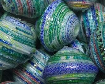 "Paper beads ""Lisa"" handmade, unique designs."