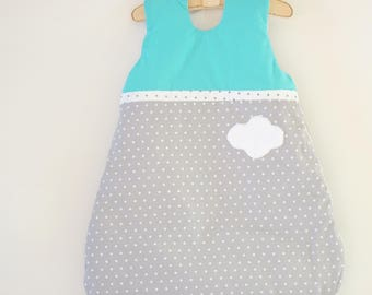 Sleeping bag-sleeping bag turquoise, gray 0/6 month winter