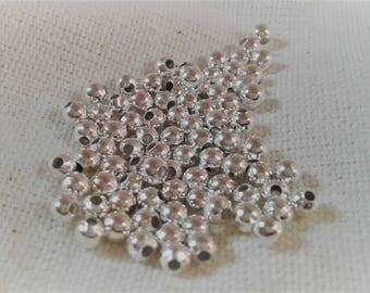 Round metal beads 3 mm