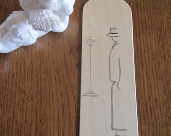 Bookmark made of Birch wood