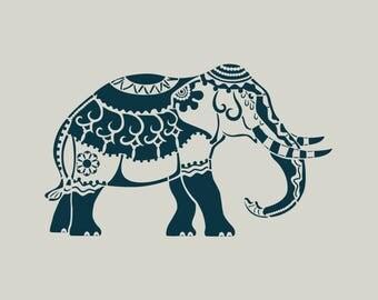 Elephant. Elephant stencil. Stencil adhesive vinyl (ref 259)