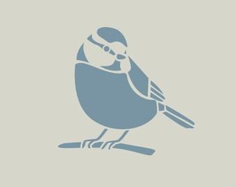 Chickadee in adhesive vinyl stencil. (ref 884)