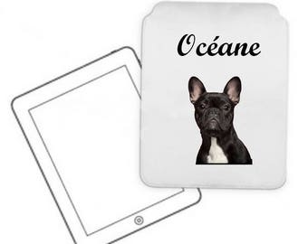 Personalized with name french Bouldog pc Tablet case