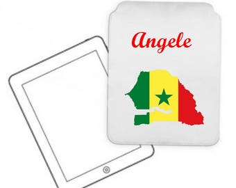 Cover for tablet pc Senegal personalized with name