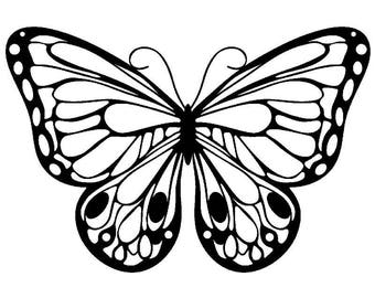 "stencil P.V.C 200 Micron ""Butterfly"" reusable 24 x 16 cms (possible other sizes)"