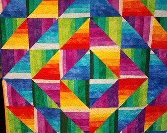Rainbow Strata Quilt