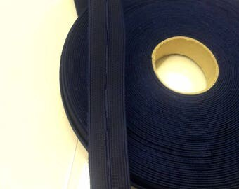 1 meter of adjustable elastic Navy T13