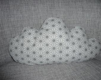 coussin nuage gris/blanc , motifs japonais