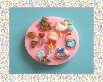 Silicone mold: baby stuff
