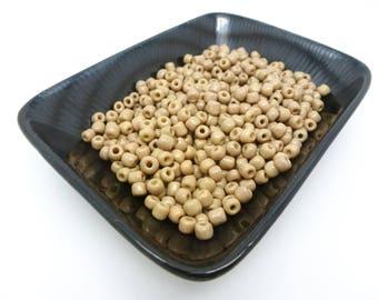 20 g khaki seed beads clear 4 mm 6/0 (8SPV11)