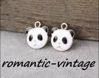 5 charms, little panda 18 * 16mm pendant