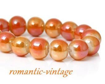 stunning! 20 light 8mm glass beads