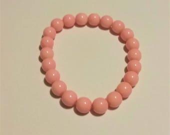 Light Pink Beaded Bracelet