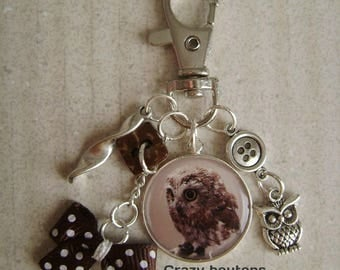 "Keychain or bag charm ""Baby OWL"""